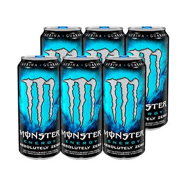 Monster Energy Absolutely Zero Lata 473cc x6