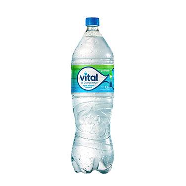 Agua Mineral Vital Con Gas Botella 1.6 Lts
