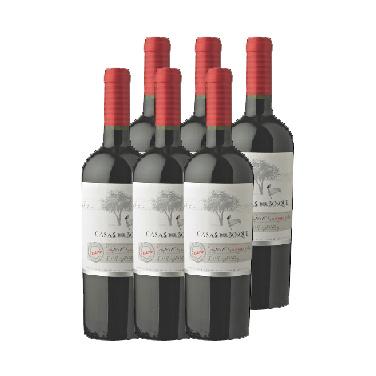 Vino Casas Del Bosque Reserva Cabernet Sauvignon Botella 750cc X6 Liquidos Cl