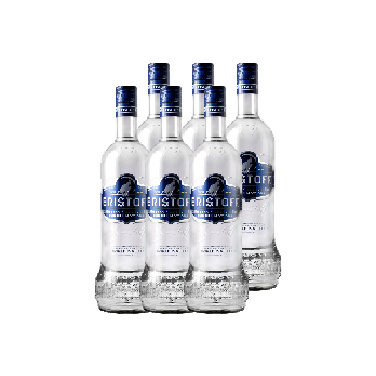 Vodka Eristoff Botella 1 Lt x6