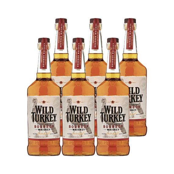 Bourbon Whiskey Wild Turkey Botella 750cc x6