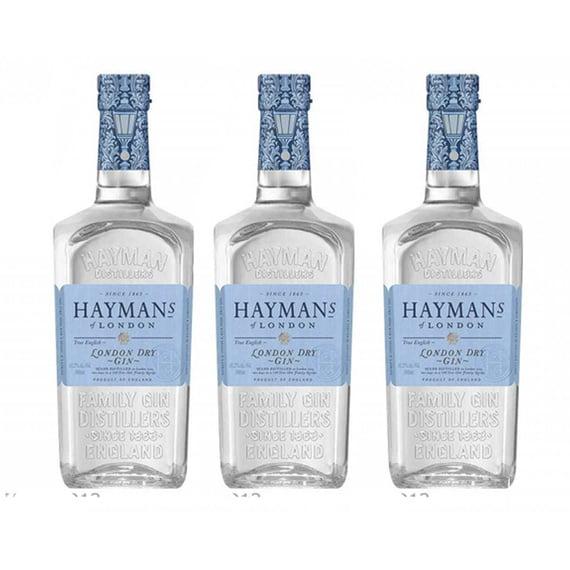 Gin Haymans London Dry 41.2° Botella 700cc x3
