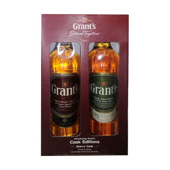 Pack Grants Family Owned + Grants Sherry Cask Finish Botella 750cc