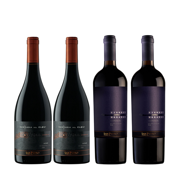 Pack Vinos 2x Kankana del Elqui + 2x Tierras Moradas Botella 750cc