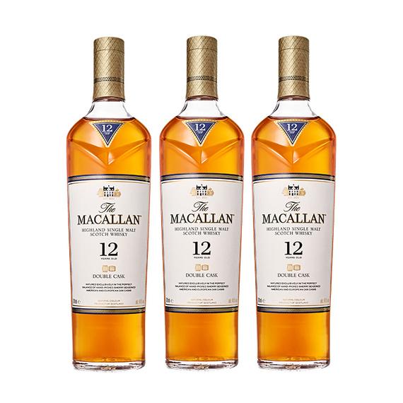 Whisky The Macallan Double Cask 12 Años Botella 700cc x3