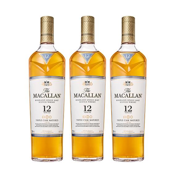 Macallan Triple Cask 12 Años Botella 700cc x3