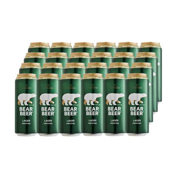 Cerveza Bear Beer Lager Lata 500cc x24