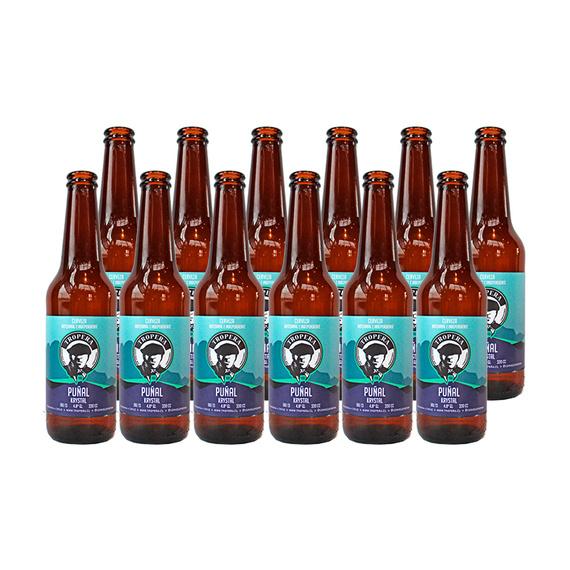 Cerveza Tropera Puñal Krystal Botella 330cc x12