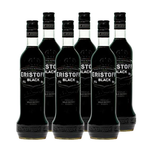 Vodka Eristoff Black Botella 700cc x6