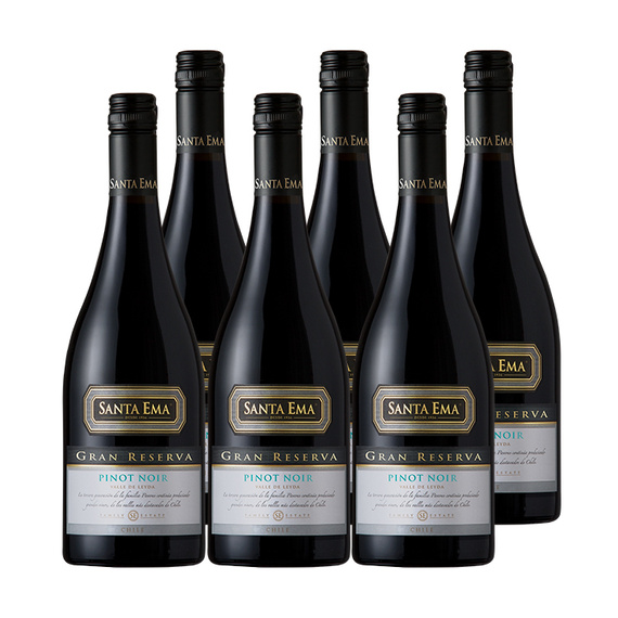 Vino Santa Ema Gran Reserva Pinot Noir Botella 750cc x6