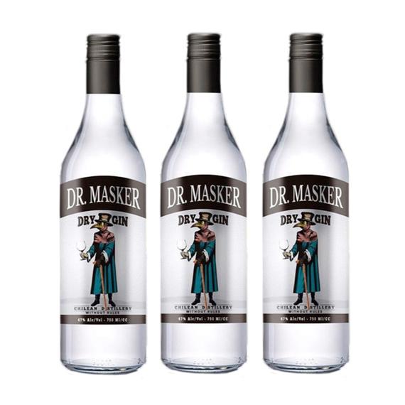 Gin Dr. Masker Botella 750cc x3