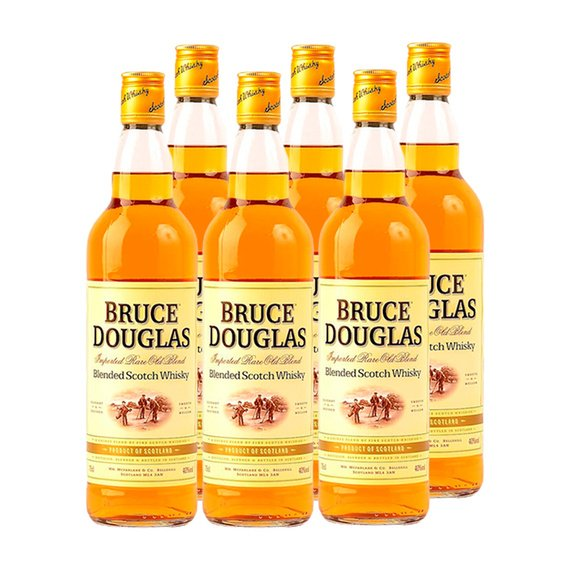 Whisky Bruce Douglas Botella 750cc x6