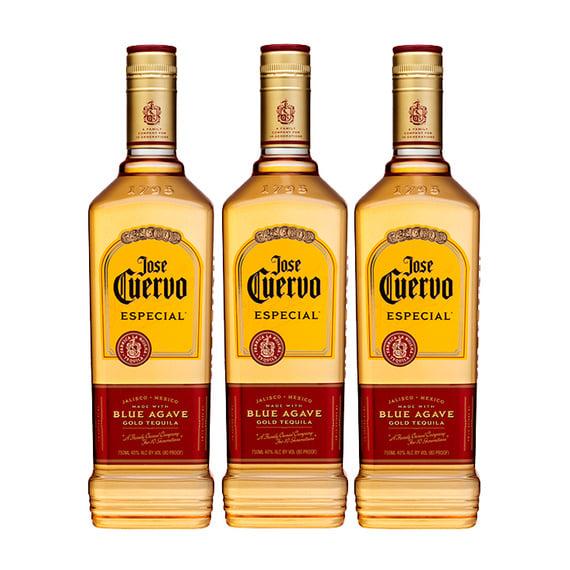 Tequila Jose Cuervo Dorado Botella 750cc x3