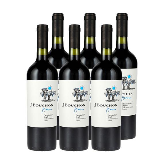 Vino J. Bouchon Reserva Carmenere / Syrah Botella 750cc x6