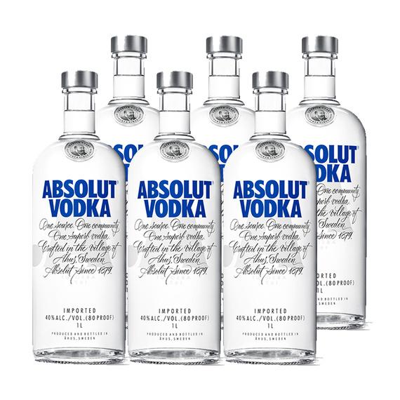 Vodka Absolut Blue Botella 1Lt x6