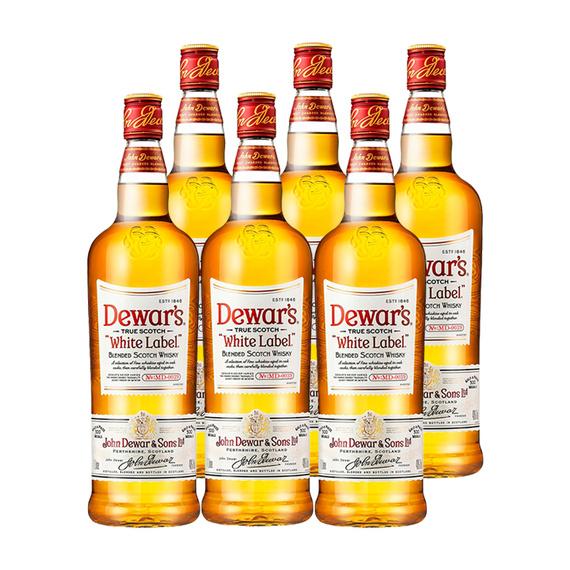 Whisky Dewars 6 Años Botella 1 Lt. x6