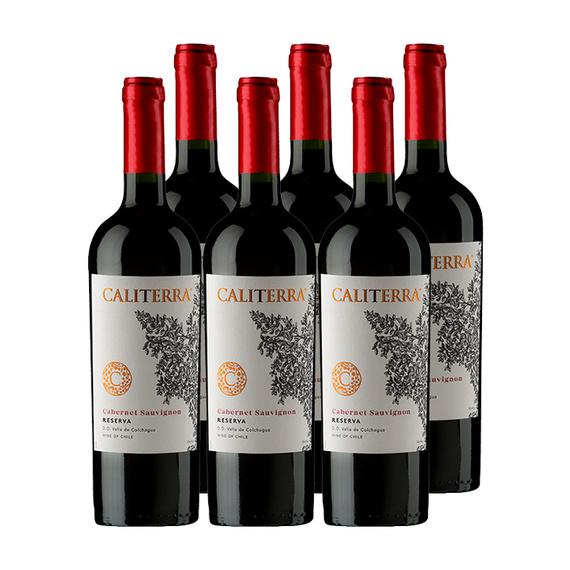 Vino Caliterra Reserva Cabernet Sauvignon Botella 750cc x6