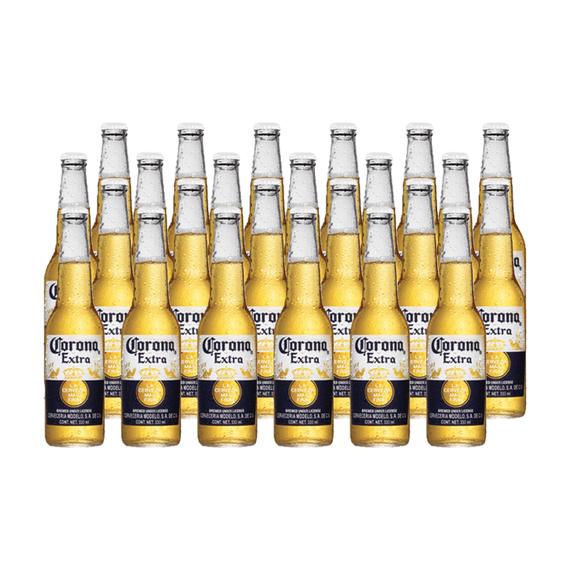 Cerveza Corona Lager Botella 330cc x24