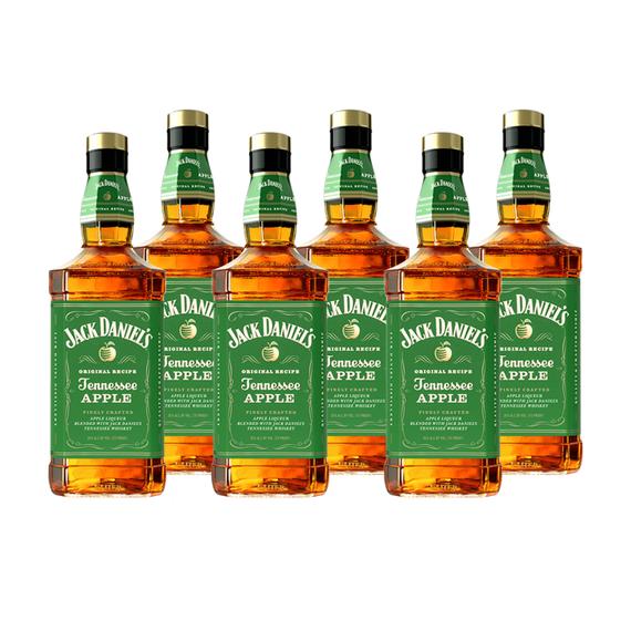 Whiskey Jack Daniels Apple Botella 1 Lt x6