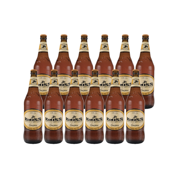Cerveza Kross Golden Ale Botella 330cc x12