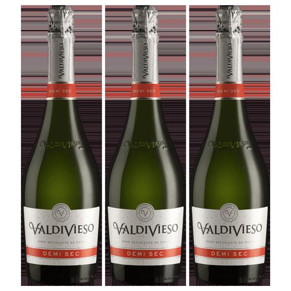 Espumante Valdivieso Demi Sec Botella 750cc x3