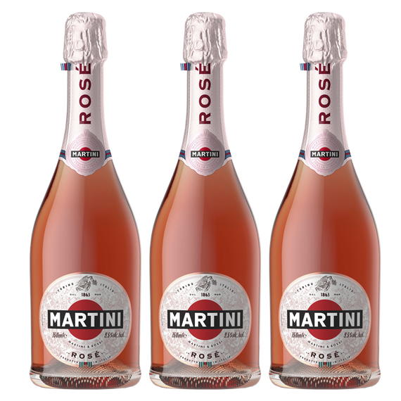 Espumante Martini Rose Botella 750cc x3