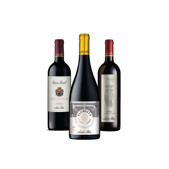 Pack Vinos Premium Floresta 1 Cabernet Sauvignon + Casa Real 1 Carmenere + 1 Triple C Botella 750cc