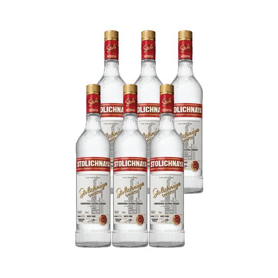 Vodka Stolichnaya Botella 750cc x6