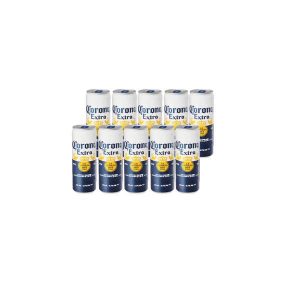 Cerveza Corona Lata 355cc x10