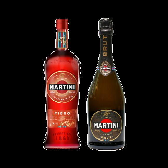 Pack Martini Fiero + Espumante Martini Brut Botella 750cc