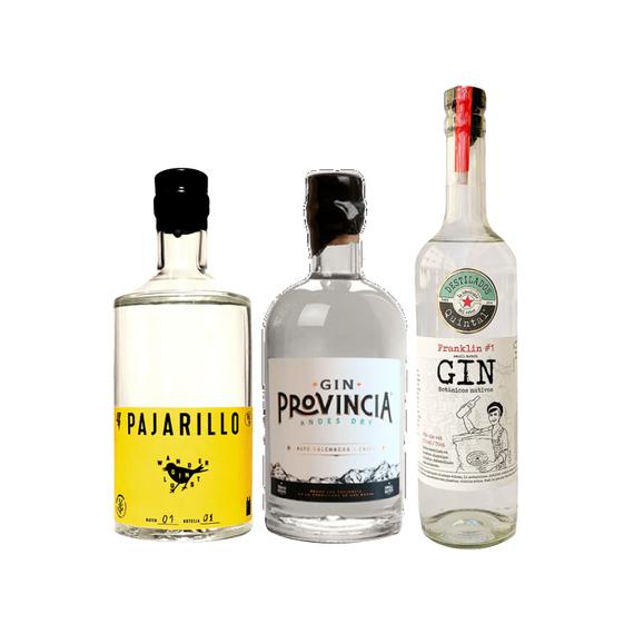 Pack Gin Pajarillo + Provincia + Franklin Botella 700cc