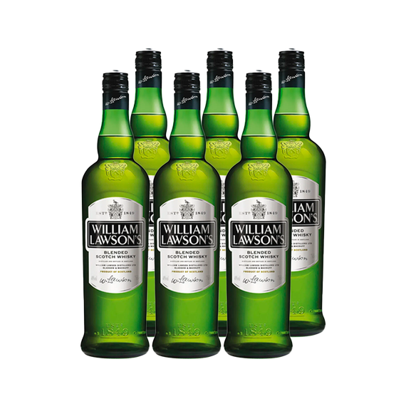 Whisky William Lawson Botella 750cc x6