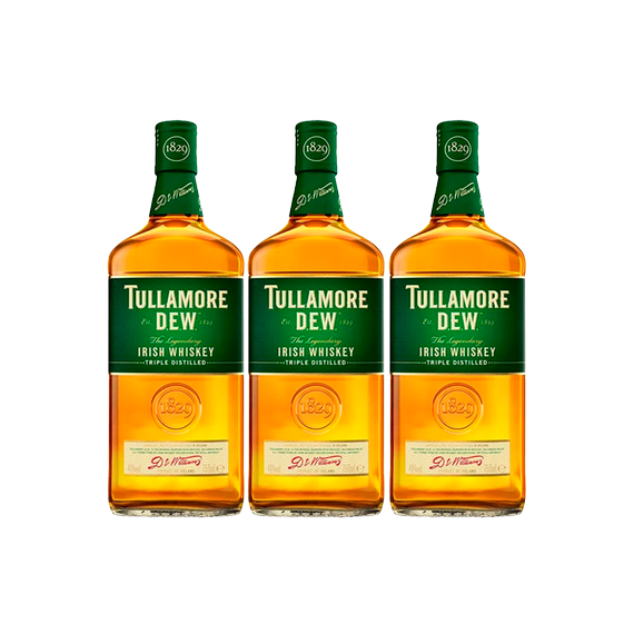 Whisky Tullamore Dew Botella 750cc x3