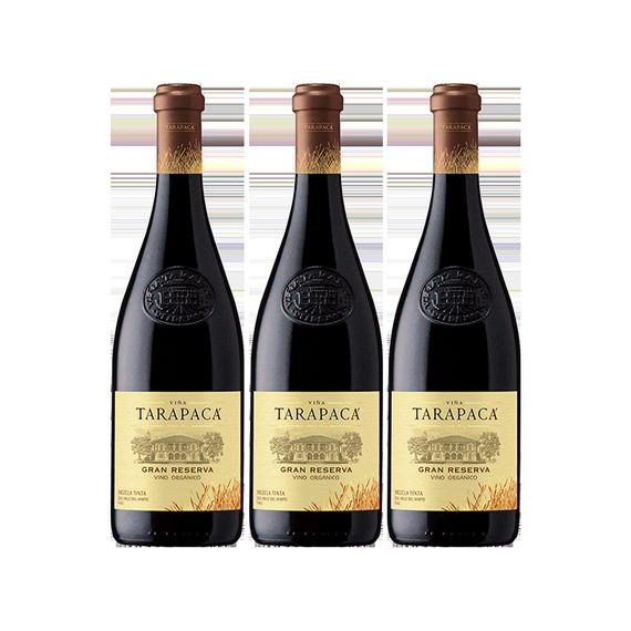 Vino Tarapaca Orgánico Gran Reserva Blend Botella 750cc x3
