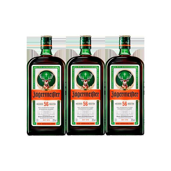 Jagermeister Botella 1Lt x3
