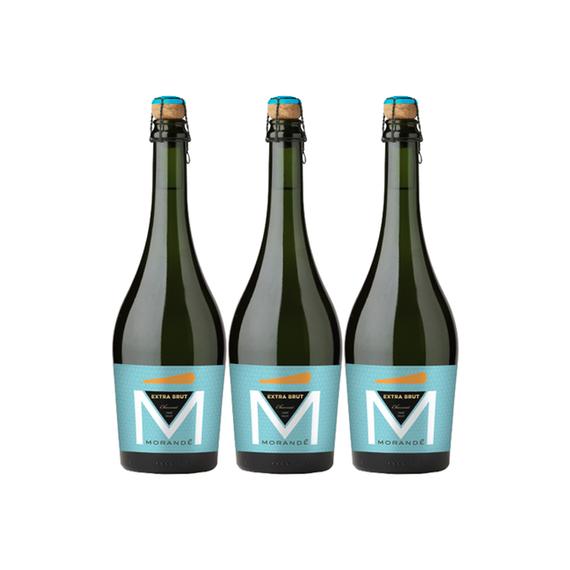 Espumante Morande Extra Brut Charmat Botella 750cc x3