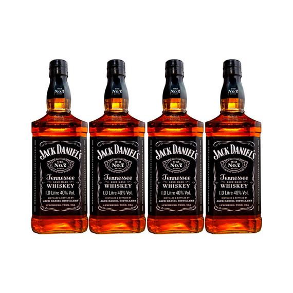 Whiskey Jack Daniels N7 Botella 1Lt x4