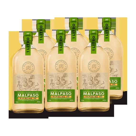 Pisco MalPaso 35° Botella 1Lt x6