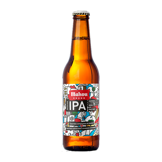 Cerveza Mahou 5 Estrellas IPA Botella 330cc