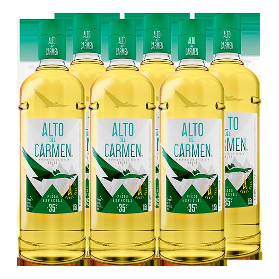 Pisco Alto del Carmen 35° Botella 1.5 Lts x6