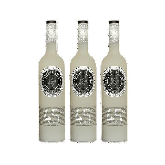 Pisco Espiritu del Elqui 45° Botella 750cc x3
