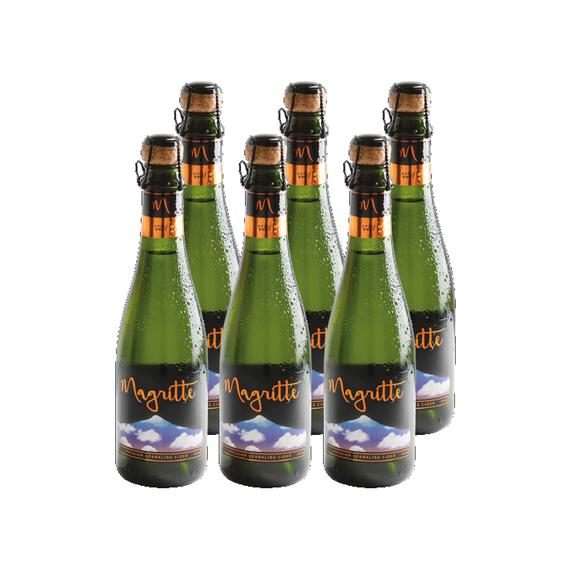 Sidra Espumante Premium Magritte Apple Brut Botella 375cc x6