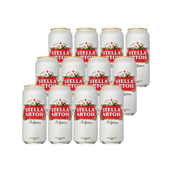 Cerveza Stella Artois Lata 473cc x12