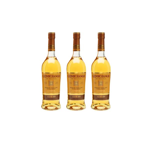 Whisky Glenmorangie Original 10 años Botella 700cc x3