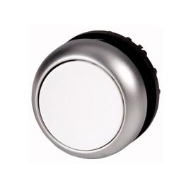 Botón luminoso rasante con enclavamiento, blanco