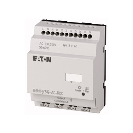 EASY500, Alimentación 100-240Vac, 8DI,  4DO tipo rele 10 Amps, reloj tiempo real