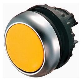 Pulsador iluminado, plano, amarillo, IP67, IP69K