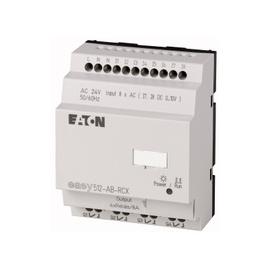 EASY500, Alimentación 24Vdc, 8DI (2 pueden ser análogas),  4DO tipo rele 10 Amps, reloj tiempo real