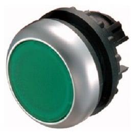 Botón luminoso rasante momentáneo, verde