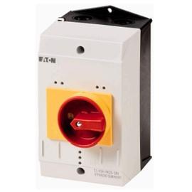 Caja para PKZM0, manilla rojo-amarillo tipo parada emergencia